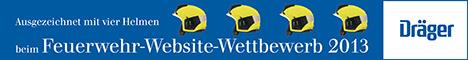 Dräger Jungendfeuerwehr Web-Site mit 4 Helmen ausgezeichnet